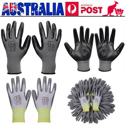 24 Pairs Work Gloves PU / nitrile Coated General Purpose Garden Hand Protection