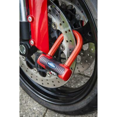 Squire Motortcycle Bike Eiger Sold Secure Gold Mini Security Disc Lock - Red