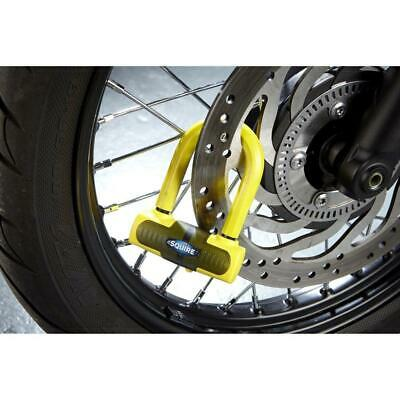 Squire Motortcycle Bike Eiger Sold Secure Gold Mini Security Disc Lock - Yellow
