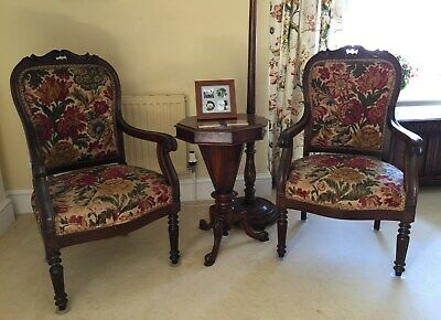 Pair of mahogany armchairs, possibly Georgian