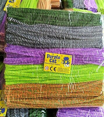 500 Chenille Craft Stems Pipe Cleaners 30cm Multi Colour Quality 6mm Job Lot