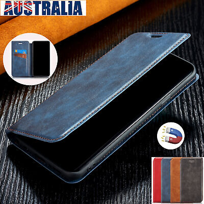 Fr iPhone 7 8 Plus XS MAX XR Case Magnetic Leather Flip Wallet Strap Stand Cover
