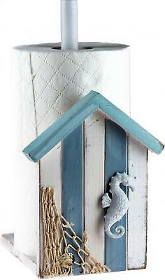 Nautical Blue And White Bathroom Loo Toilet Roll Holder (2-3 Storage)