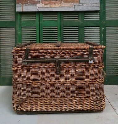 Extra Large Vintage Wicker Travel Trunk