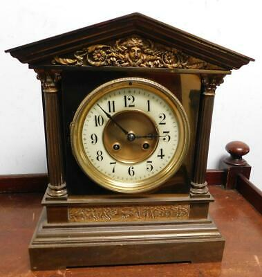 french brass mantel clock for restore