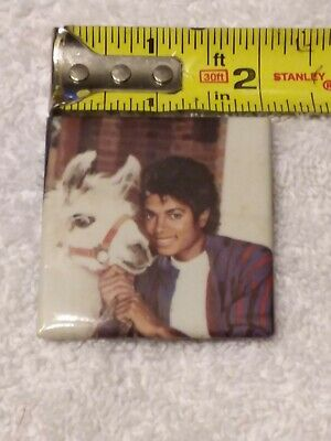 "Michael Jackson and Louie the Llama Vintage 2"" Pin-Back Button VERY RARE"