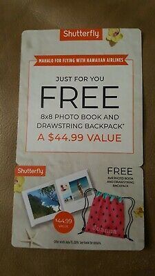 Shutterfly FREE 8x8 Family HardCover Photo Book Promo Code & Drawstring Backpack