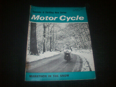 Zeitschrift ' The Motor Cycle ' Nr. 3110 17. Jan.1963 GBR Reynolds-Sammy Miller