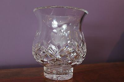 Waterford Crystal with Love Hurricane Fairy Lamp Ireland - Signed