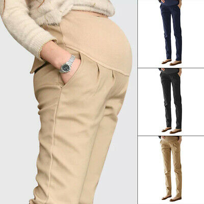 Party Maternity Pants Long Skinny Pregnancy Over Bump Trousers Women Stretch