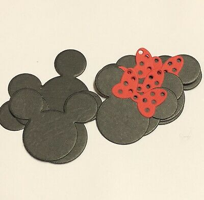 Mickey & Minnie Mouse Die Cuts 12 Pack 4x4.8cm - Card Making Scrapbooking Craft