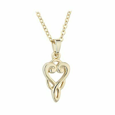 Women Gold Plated Necklace Book Of Kells Celtic Trinity Knot Pendant