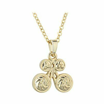 Women Gold Plate Butterfly Pendant Book Of Kells Celtic Trinity Knot Design