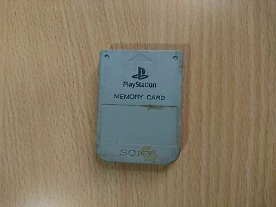 PS1 Sony PlayStation 1 - Official/Genuine Memory Card (Grey) PS1/PSX/PS2 E