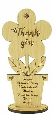 Gift for Teacher Oak Wooden Flower Thank You Leaving Gifts School Term Assistant