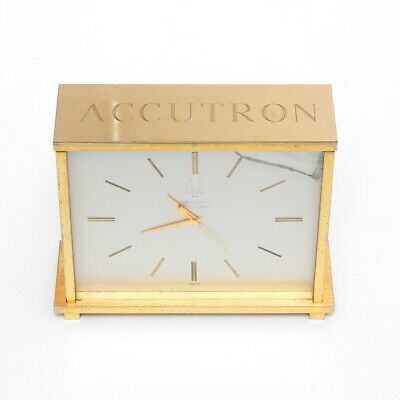 Large Authentic Bulova Accutron Desk Clock Vintage