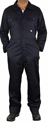 Mens Navy Boiler Suit Overall Coverall Long Sleeves Safety Protective Workwear