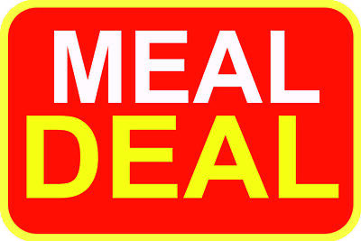Meal Deal Red Sticker For Baking Cooking Food Packaging