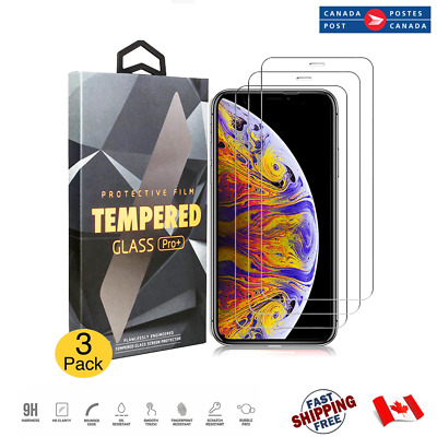 Premium Tempered Glass Screen Protector For iPhone X XS iPhone XS Max XR 3 PACK