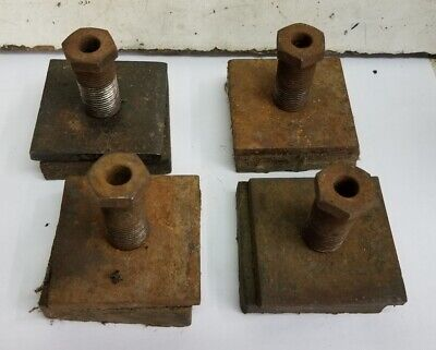 """(4)Clausing 12"""" Lathe 5900 Leveling Screw Pad Plate"""