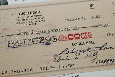 1962 Lucille Ball Desilu Check 580 THE LUCY SHOW Beverly Hills Federal Savings