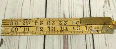 Vintage Rabone Boxwood Folding Ruler Rule No 1167 Tool - 36 Inches - 3 Foot