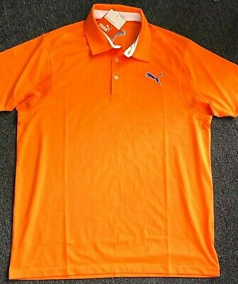 Men's Puma Golf Sport Lifestyle Zip Long Sleeve Dri-Fit [Orange] Medium