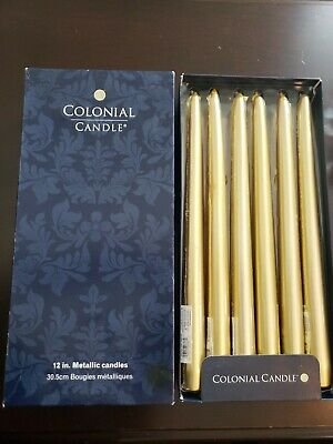 Set of 12 Unscented 12 Inch Classic Taper Dinner Candles Colonial Candle Berry