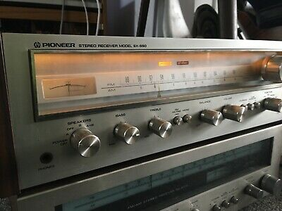 Vintage Retro Pioneer SX 550 Hifi Tuner Stereo Receiver Integrated Amplifier
