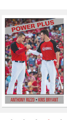 2019 Topps Tbt '66 Power Plus Asg Set #27 Card Anthony Rizzo Kris Bryant #167