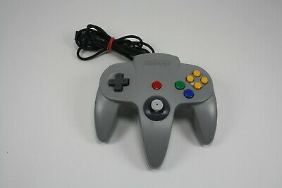 OEM Nintendo 64 N64 Grey Authentic Video Game Controller Remote Pad Official!