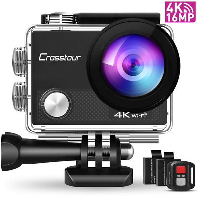 Crosstour CT9000 Action Cam Unterwasserkamera (4K 16MP WiFi 40M Wasserdicht)