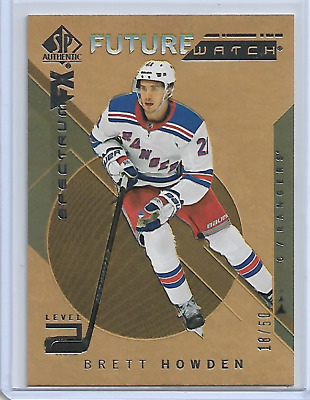 2018-19 SP Authentic Gold Spectrum FX /50 Brett Howden Future Watch Rookie