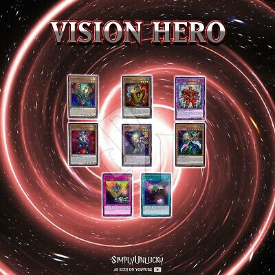 VISION HERO DECK CORE | BLHR RAY WITCH GRAVITO POISONER TRINITY RELEASE YuGiOh