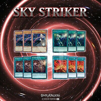 SKY STRIKER DECK CORE | BLHR RAYE ENGAGE! WIDOW ANCHOR AFTERBURNERS YuGiOh