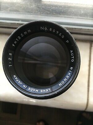 "Ricoh Auto Rikenon on 135mm F2.8 M42 Lens SHARP! ""READ!"""