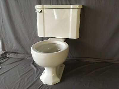 Vtg Mid Century Complete Art Deco Toilet Old Vtg Kohler Wellworth White 111-19E