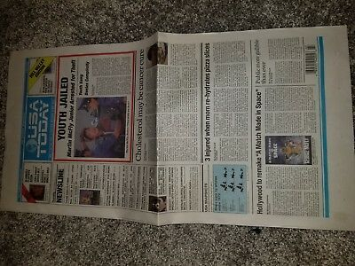 Back to the Future USA Today News Paper Michael J. Fox Chris Lloyd McFly