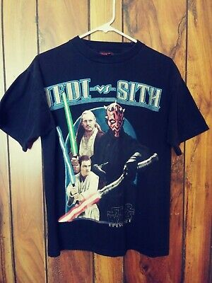 STAR WARS Episode 1 Jedi Vs. Sith 100% Cotton  Size S