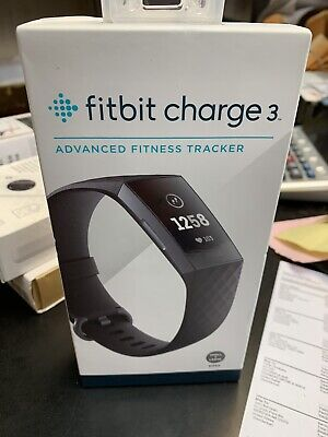 Fitbit Charge 3 Activity Tracker + Heart Rate - Graphite/Black