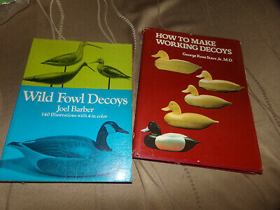 duck carving books. Wild Fowl decoys and How to make working decoys