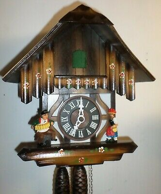 Very Nice German Black Forest Hubert Herr Large Mountain Chalet Cuckoo Clock!