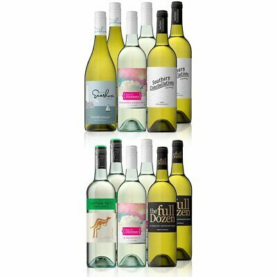 Mixed White Wine Case Featuring Yellowtail Pinot Grigio (12x750ml) Free Shipping