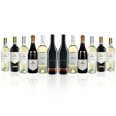 Premium The Italian Job Red and White Wine Mixed Case (12x750ml) Free Shipping!