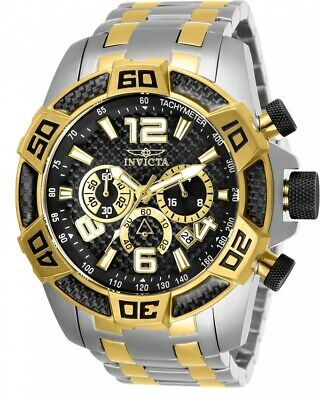 Invicta Men's 25856 'Pro Diver' Scuba Gold-Tone and Silver Stainless Steel Watch