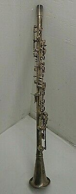 Vintage Cundy Bettoney Three Star Metal Clarinet - For Parts/Repair FREE SHIP!!!
