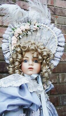 ANTIQUE REPRODUCTION 28in BRU JNE SHANDELLA PORCELAIN DOLL PATRICIA LOVELESS