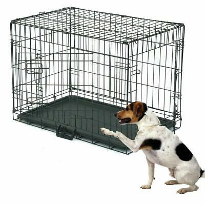 """30"""" Inch Pet Cage Dog Cat Puppy Training Folding Crate Animal Transport"""