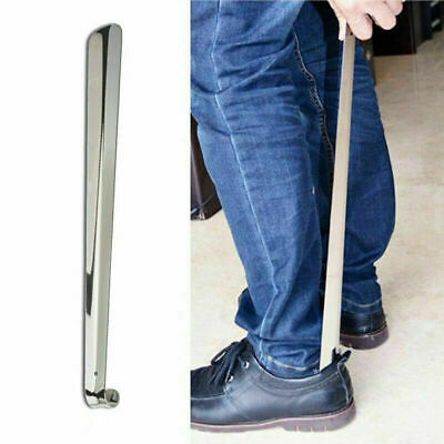 Long Handle Metal Shoe Horn Stainless Steel Silver Remover Shoehorn Popular AU