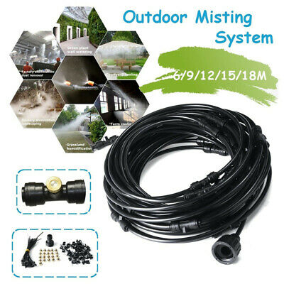 Outdoor Misting Cooling System Kit Garden Patio Waterring Irrigation Mister Line